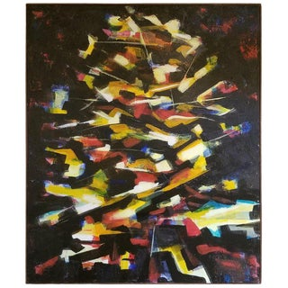 Large Abstract Painting by R. J. Serrano For Sale