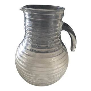 Vintage Italian Ribbed Pitcher For Sale