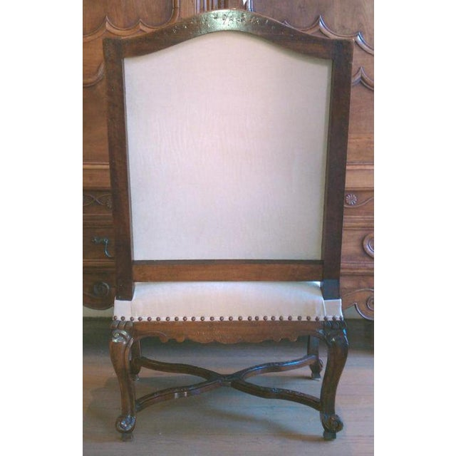 19th Century Regence Walnut Armchair For Sale - Image 4 of 6