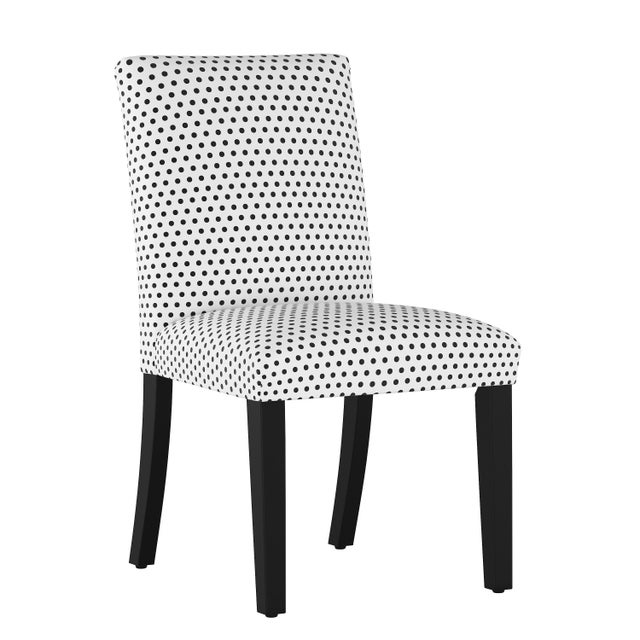 Dining Chair in Polka Dot White Oga For Sale In Chicago - Image 6 of 7