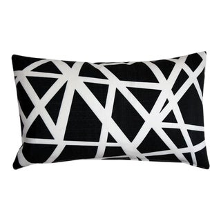 Pillow Decor Bird's Nest Black 12x20 Pillow For Sale