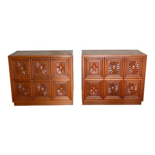 Mid-Century Solid Rosewood Sideboards - A Pair