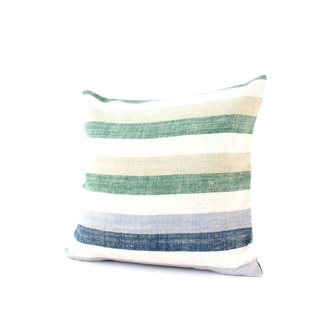 Contemporary Striped Cotton Pillow Cover For Sale In San Francisco - Image 6 of 6