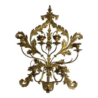 Italian Gilt Candle Holding Sconce For Sale
