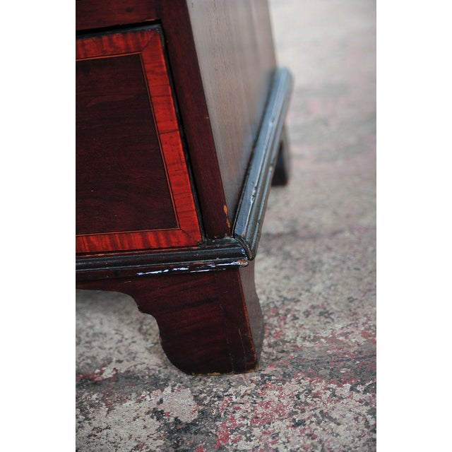 19th C. English Inlaid Mahogany Drop Desk For Sale - Image 11 of 11