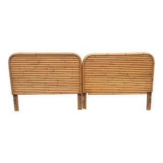 1960s Boho Chic Twin Bamboo Headboards - a Pair