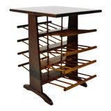 Image of Vintage Wood Spindle Magazine Rack End Table For Sale