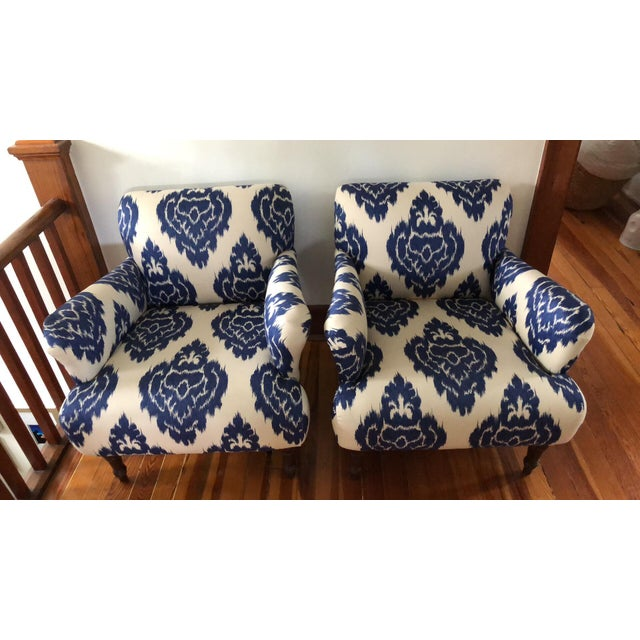 Shabby Chic Modern Pottery Barn Hadley Arm Chairs- A Pair For Sale - Image 3 of 3