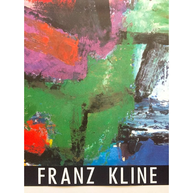 """Franz Kline Rare Vintage 1987 Abstract Expressionist Lithograph Print """" Pafinvest Studio Marconi """" Italian Exhibition Poster For Sale - Image 9 of 13"""