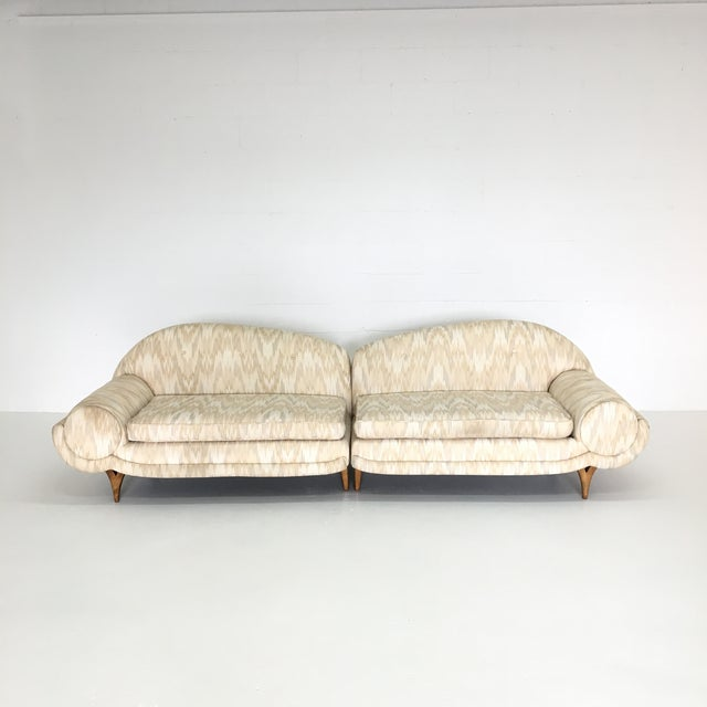 Mid-Century Modern 2 Piece Sectional Sofa - Image 3 of 6