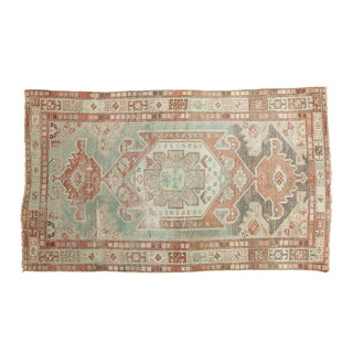 "Vintage Distressed Malayer Rug - 3'7"" X 6'"