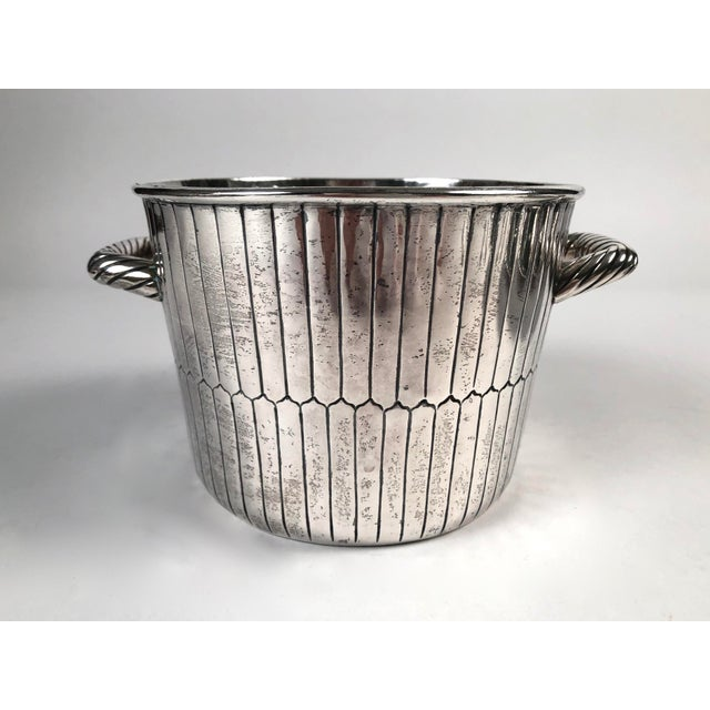 Sanborns Mexican Sterling Silver Ice Bucket With Tongs and Tray For Sale - Image 4 of 13