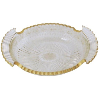 Etched & Gilt Cut Glass Bowl For Sale