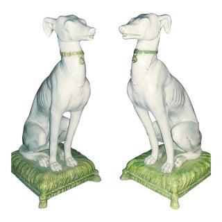 Vintage Italian Whippets Statues - a Pair For Sale