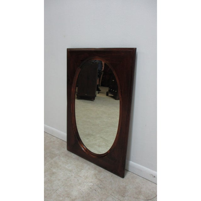 Traditional Ethan Allen Old Tavern Pine Console Dresser Hanging Wall Mirror For Sale - Image 3 of 11