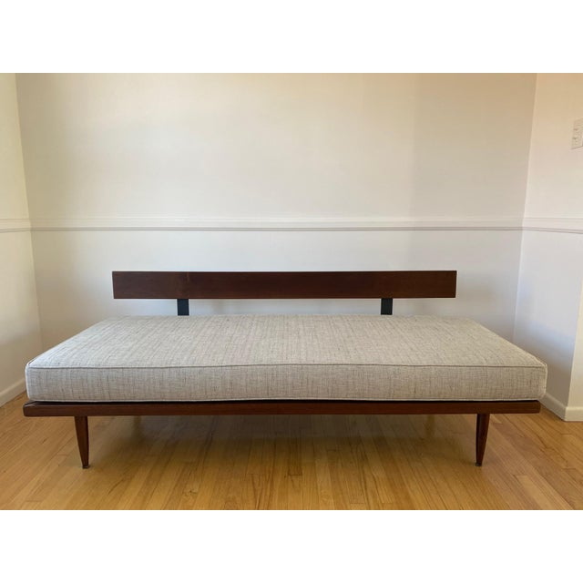 1960s Mid-Century Gray Sofa For Sale - Image 5 of 13