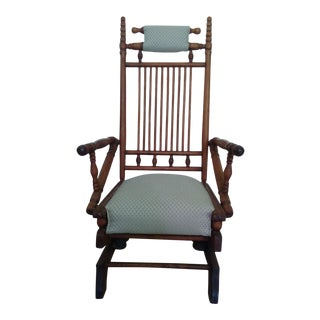 Antique Platform Eastlake Style Rocker Chair For Sale