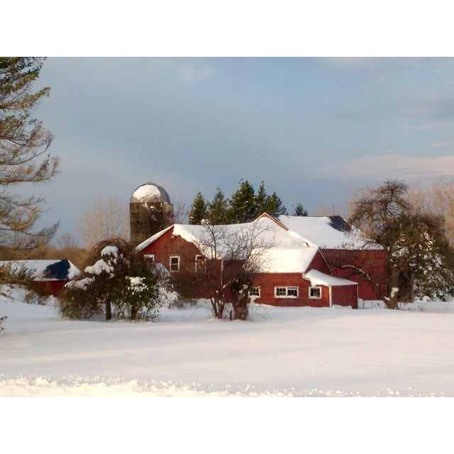 Red Barn in Winter Photograph by Josh Moulton - Image 1 of 2