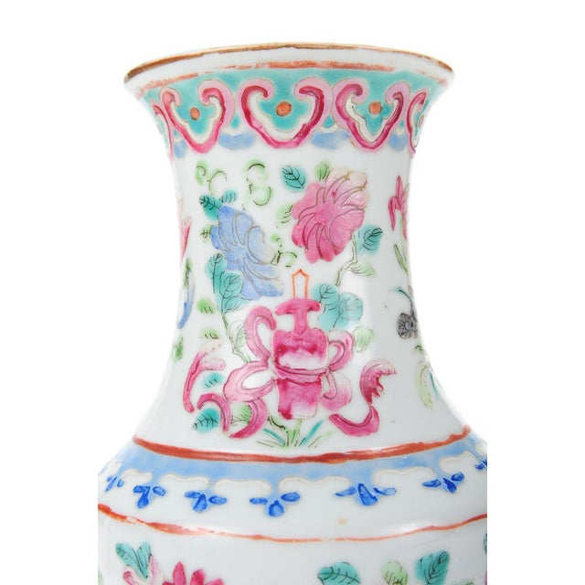"""Chinese 19th Century Porcelain 10"""" Vases - Pair - Image 7 of 9"""