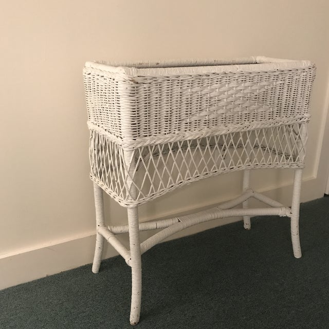 Vintage Wicker Plant Stand For Sale In New York - Image 6 of 13