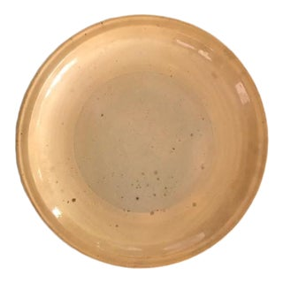 19th Century American Yellowware Pie Plate From Congress Pottery, Circa 1860 For Sale