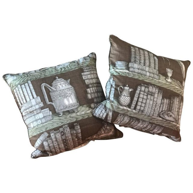 Piero Fornasetti Pillows, 1950s For Sale - Image 9 of 9