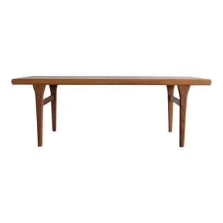 Johannes Andersen Style Teak Coffee Table For Sale