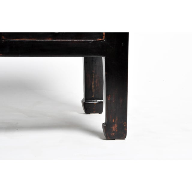 Low Chinese Table With Three Drawers and Terracotta Top For Sale - Image 11 of 13