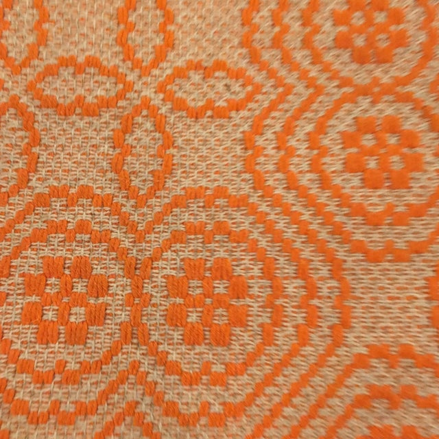 Orange Italian Artisan Rug - 2′3″ × 4′6″ - Image 4 of 4