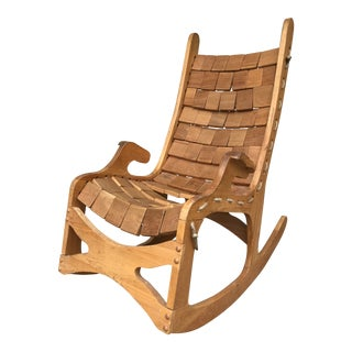 Wood Rocking Chair by Vermont Folk Rocker For Sale