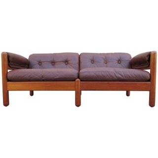 Makael Laursen Teak & Leather Danish Modern Sofa