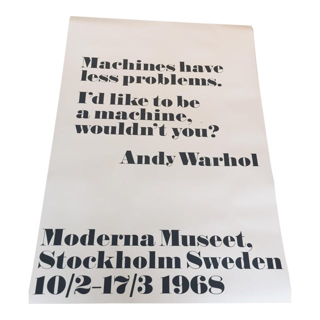 """Machines Have Less Problems"" Pop Art Print Poster by Andy Warhol For Sale"