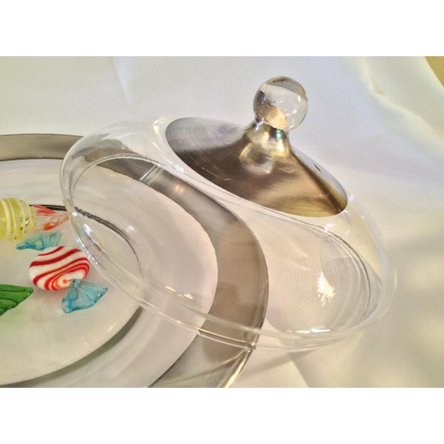 Dorothy Thorpe Mid Century Candy Dish For Sale In Columbus - Image 6 of 13