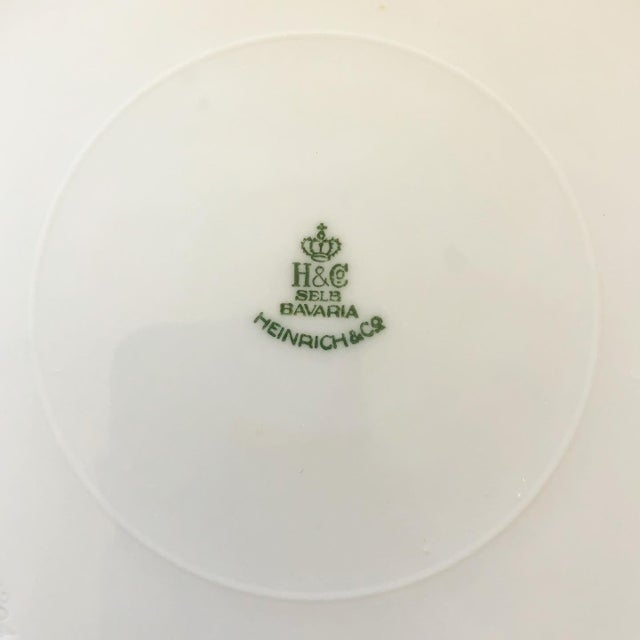 Late 19th Century Heinrich and Co. Selb Bavarian Dinner or Service Plates Gold Encrusted With Center Floral Design - Set of 12 For Sale - Image 5 of 6