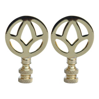 Brass Lamp Finials - a Pair For Sale