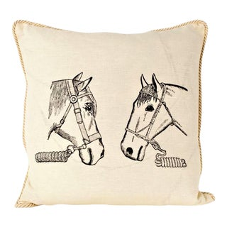 Mr. And Mrs. Ed Equestrian Pillow For Sale