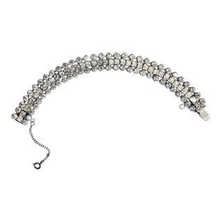 1960s Weiss Crystal Embellished Bracelet For Sale