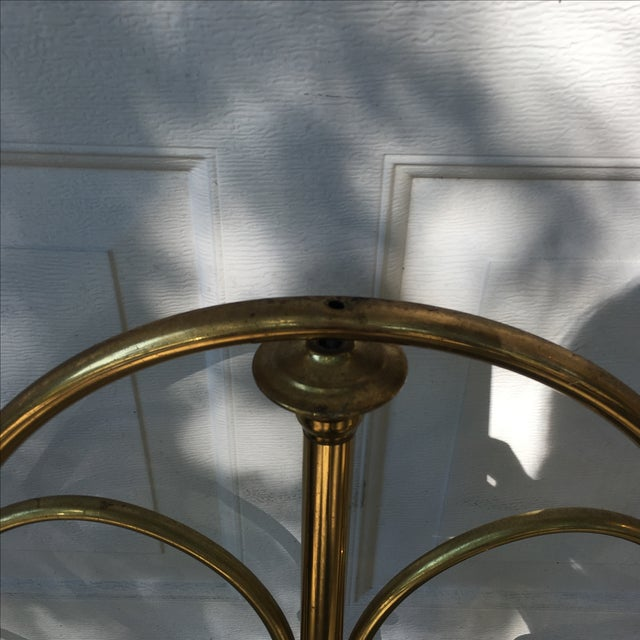 1970s Vintage Brass Twin Bed For Sale - Image 5 of 11