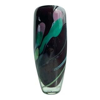 1970s Kate Vogel Signed Art Glass Vase For Sale