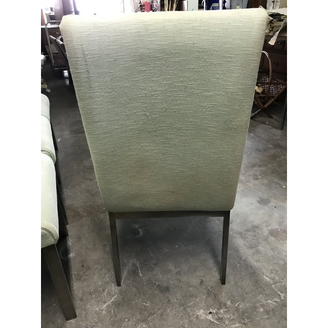 Green 1980s Vintage Dia Upholstered Dining Chairs- Set of 6 For Sale - Image 8 of 12