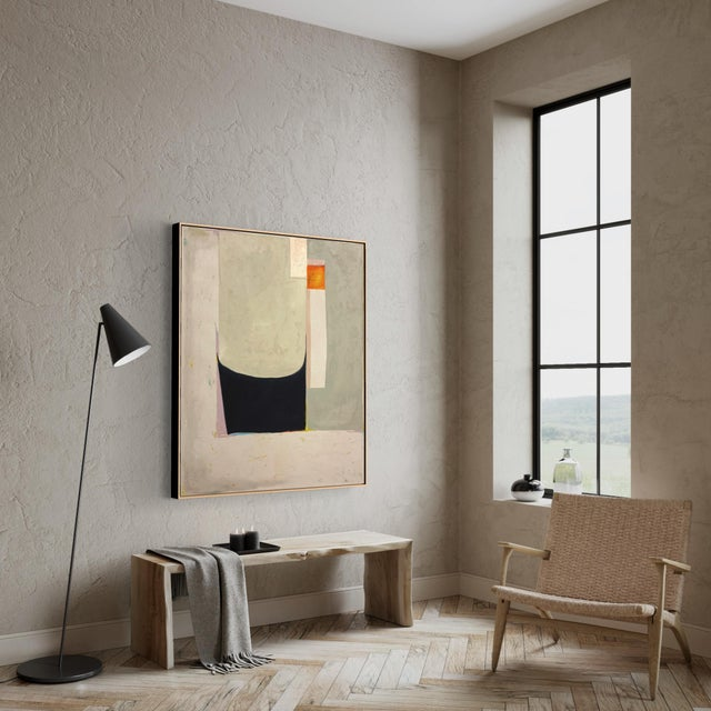 """Contemporary """"God, Etc. No. 4"""" Contemporary Minimalist Abstract Oil Painting by Huë Thi Hoffmaster For Sale - Image 3 of 4"""
