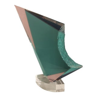 Large Modern Lucite Sculpture For Sale
