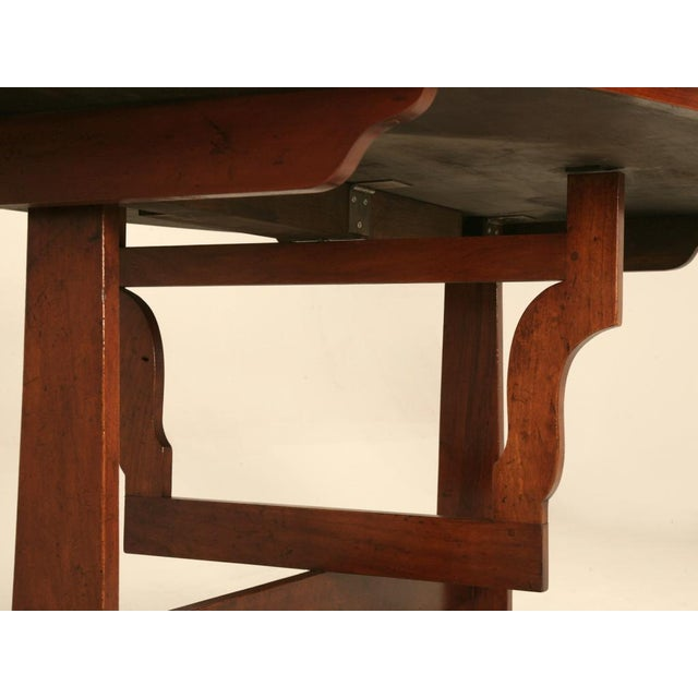 Early 20th Century French Cherry Tilt-Top Wine Table Reproduction For Sale - Image 5 of 9