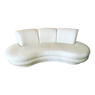 Adrian Pearsall for Comfort Designs Curved Kidney Sofa For Sale