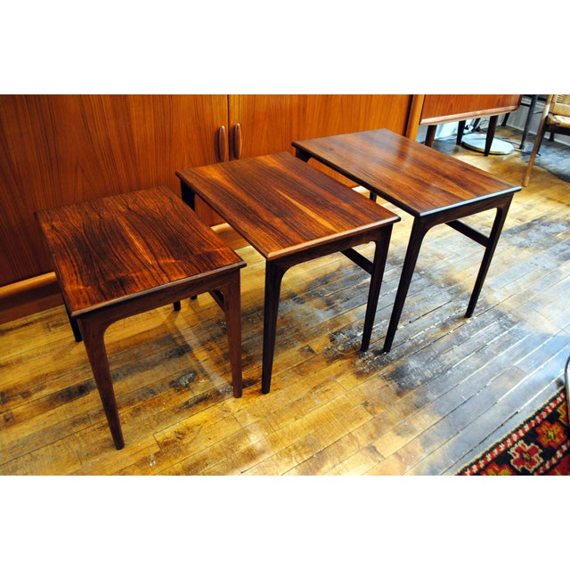 Danish Rosewood Nesting Tables - Set of 3 - Image 2 of 9