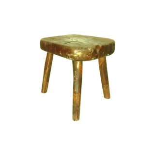 Antique Primitive Wood Cricket Stool For Sale