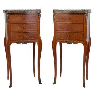 Early 20th Century Louis XV Fruitwood Side Tables - a Pair