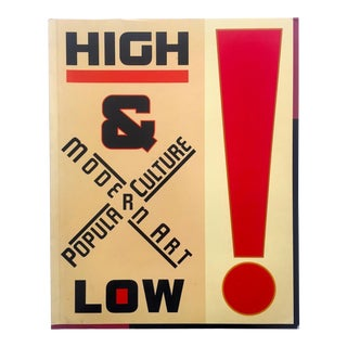 """ High & Low : Modern Art Popular Culture "" Rare Vintage 1990 Museum of Modern Art Iconic Exhibition Collector's Art Book For Sale"
