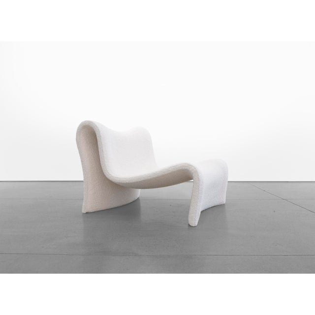 Textile Mid-Century Wave Chair For Sale - Image 7 of 7