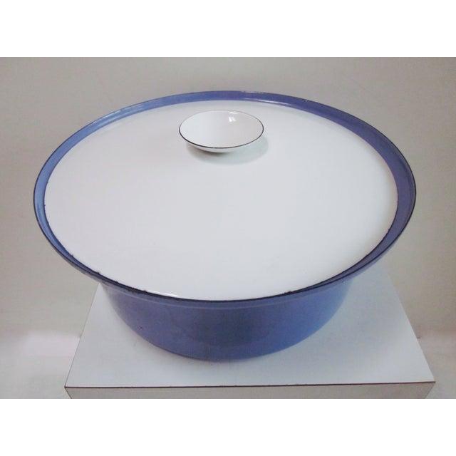 Large Teak Swedish Enamel Pot, Cathrineholm Style For Sale - Image 11 of 11